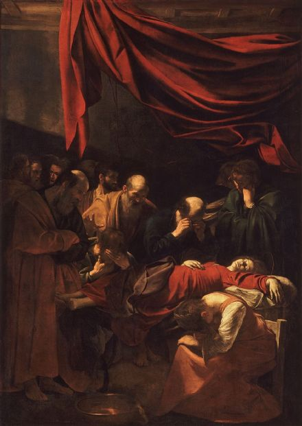 Caravaggio, Michelangelo Merisi da: Death of the Virgin. Fine Art Print/Poster. Sizes: A4/A3/A2/A1 (004250)